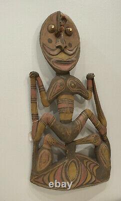 Papua New Guinea Statue Hook Iatmul Wood Food Ceremonial Hook