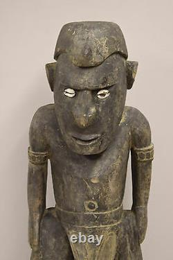 Papua New Guinea Statue Shell Eyes Sepik River Kambot Village