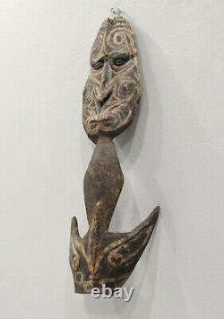 Papua New Guinea Statue Wood Iatmul Food Hook