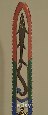 Papua New Guinea Tolai Dance Wand New Britain Wood Dance Performance Wand