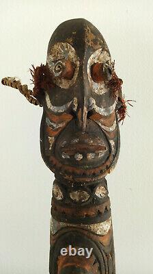 Papua New Guinea Tribal Carved Hollow Wooden Statue Figure