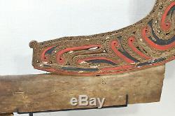 Papua New Guinea Wave Splitter Trobriand Massim Canoe Wave Splitter