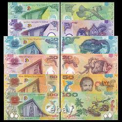 Papua New Guinea set 6 PCS, 2 5 10 20 50 100 Kina, P-38-43, lot, UNCCOMM