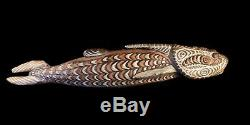 Poisson bois, carved fish, papua new guinea, oceanic art, art océanien