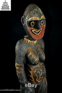 Powerful Female Kwoma Nogwi Figure, Washkuk, PNG, Papua New Guinea, Oceanic