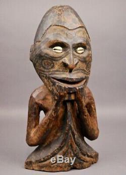 Rare OLD Museum Quality SEPIK ANCESTOR FIGURE Papua New Guinea PNG Great Patina