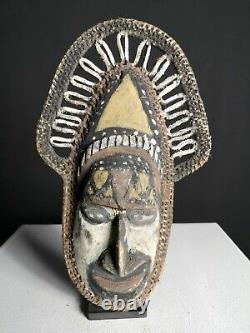 Rare Woven Yam Harvest Mask, Wosera, East Sepik, PNG, Papua New Guinea, Oceanic