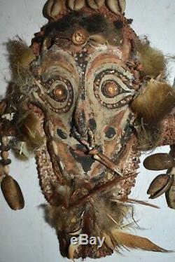 SALE! -PAPUA NEW GUINEA RITUAL NECKLACE 1900S 10in PROV