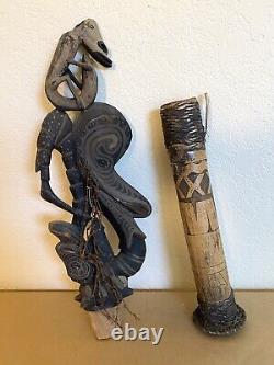 SBK huge Ceremonial Flute #4 Ancestor Spirits Papua New Guinea