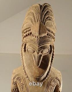 SEPIK RAMU FIGURE TRIBAL CARVED OLD PAPUA NEW GUINEA png