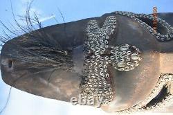 Sale! Papua New Guinea House Mask, Feathers, Shells 30 Prov