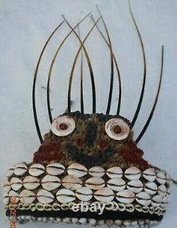 Sale! Papua New Guinea Witchdoctors Hat, Shells, Quills 14 Prov