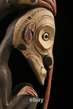Sepik flute, traditional instrument, papua new guinea, oceanic art