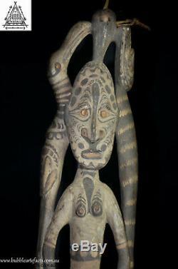 Stunning Fine Guardian Spirit Hook Figure, Sawos People, Papua New Guinea, PNG