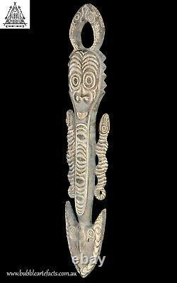 Superb Old Ceremonial Spirit Hook Figure, Sawos, PNG, Papua New Guinea, Oceanic