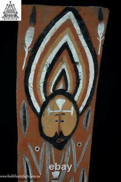 Superb Vintage Abelam Sago Bark House Panel, Maprik Area, Papua New Guinea, PNG