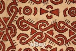 Tapa cloth, painted beated bark, popondetta, papua new guinea