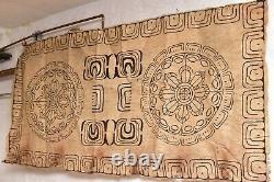 Tapa painted bark cloth Art Collingwood Bay Tufi Papua New Guinea Tribal art