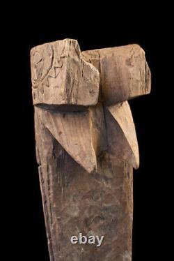 Tête de tambour, Slit gong drum's head, oceanic art, papua new guinea