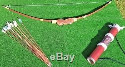 Traditional Recurve Archery Set From Papa New Guinea With 10 Arrows