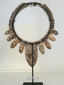 Tribal Chiefs Men Chest Necklace Dani Tribe Papua New Guinea ethnic jewellery
