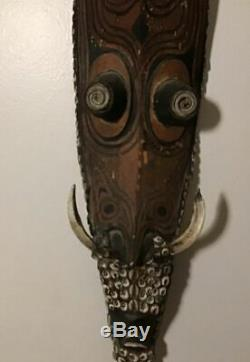 Tribal Primitive wall Art/Mask from Papua New Guinea