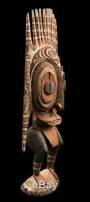 Tribal figure, ancestor statue, sepik carving, papua new guinea, wood carving