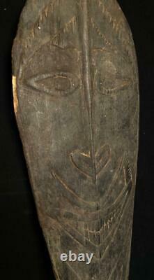 Vintage Papua New Guinea Carved Oar Spirit Board Gope Estate Of Larry Orsack