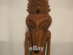 Vintage Sepik River Papua New Guinea Ancestor Figure PNG Carved Tiki not mug