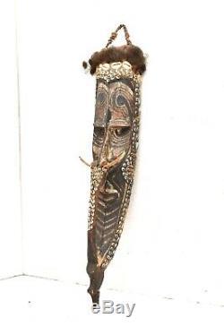 Vintage Tambanum Spirit Mask Sepik River Papua New Guinea Tribal art carved