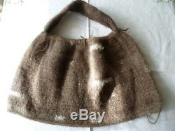 Vintage Traditional hand woven cascus Papuan Bilum Bag Papua New Guinea old PNG
