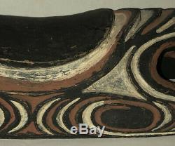 Vintage Tribal Carved Wood Headrest Neck Rest Sepik River Area Papua New Guinea